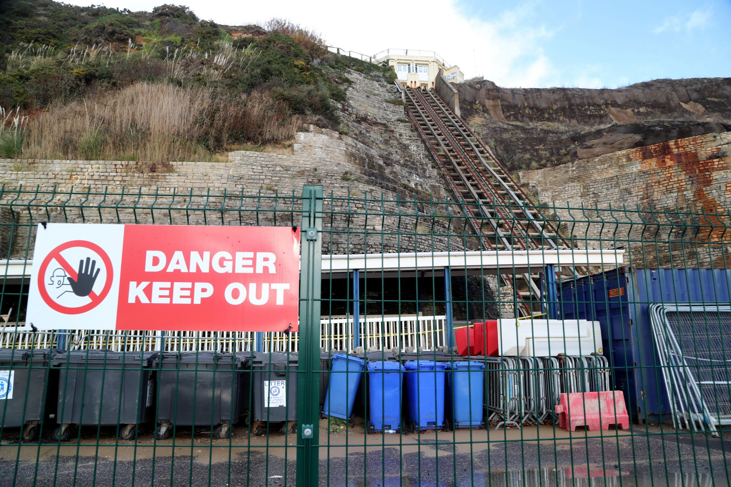 The East Cliff lift site in Bournemouth