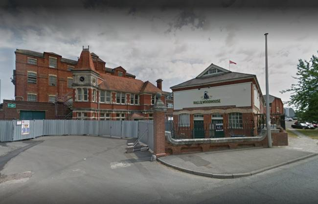 Hall and Woodhouse Brewery in Blandford via Google Maps