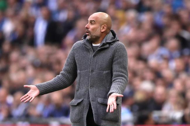 Pep Guardiola has praised his Manchester City players for still being in contention for the quadruple