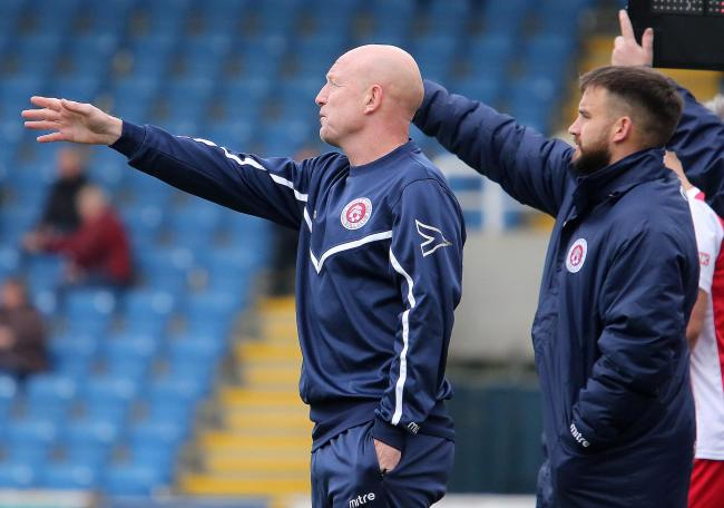 PLAY-OFF PUSH: Poole Town assistant manager Taffy Richardson, left, and coach Micky Hubbard (Picture: Andy Orman)