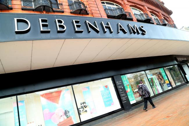 Stock Pictures. .Debenhams in Bournemouth town centre..