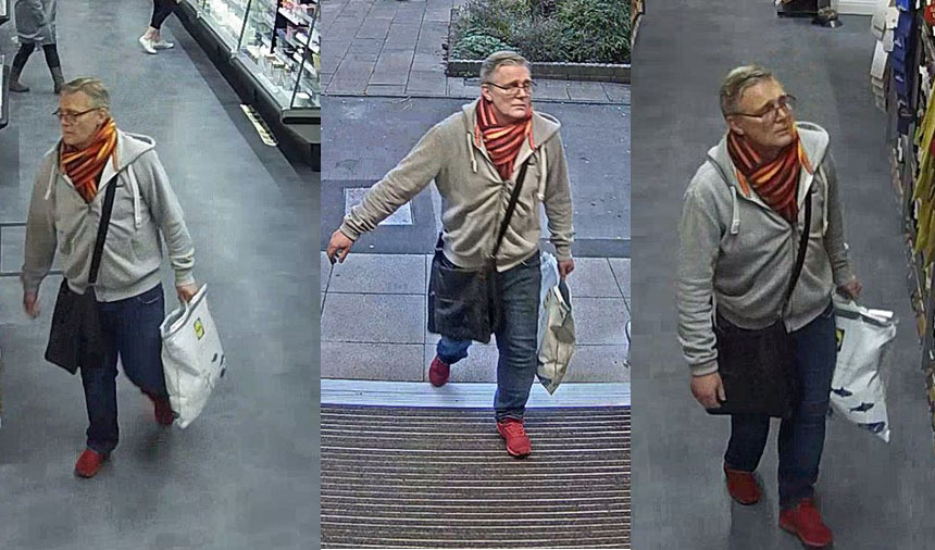 APPEAL: Police have released CCTV of a man they want to speak to in the connection of the theft of Champagne from M&S Foodhall in Broadstone