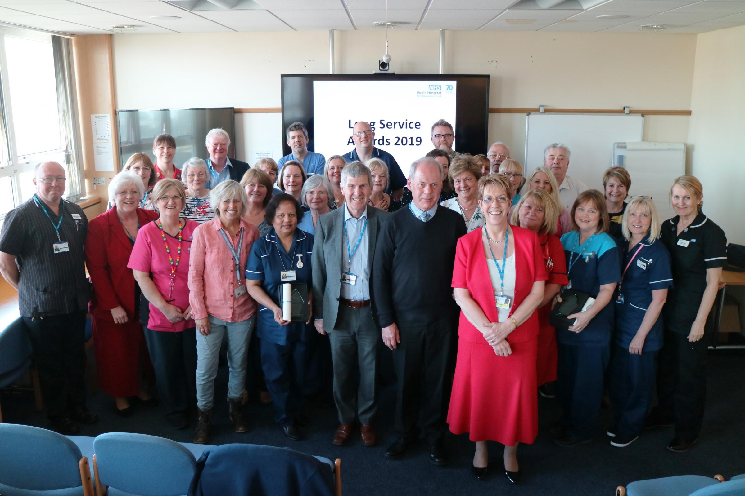 Poole's Super Staff celebrate their long service