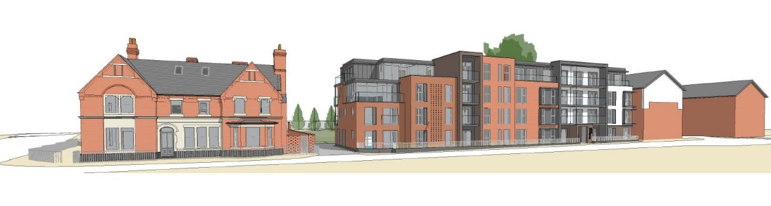A CGI of the block of flats proposed for the car park