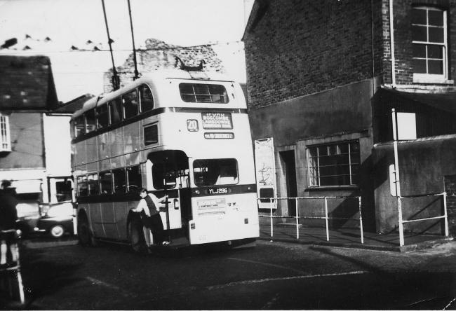 A trolleybus in Christchurch in 1969. Picture: Daily Echo