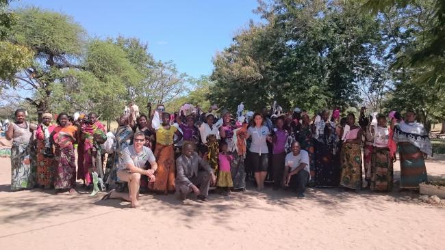 Volunteers from Adventure Aid on a trip to Tanzania