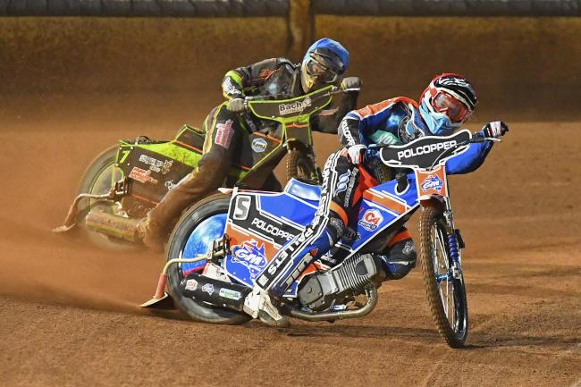 TOP SCORER: Pirates star Brady Kurtz totalled 13 points from five rides at Swindon (Picture: Denis Murphy)