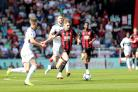 AFC Bournemouth v Fulham at the Vitality Stadium in Bournemouth. .David Brooks..