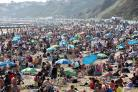 Thousands of people on the beach on Easter Saturday. Picture by Richard Crease Photography.