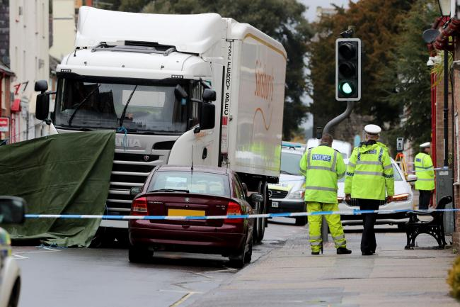Police at the scene of collision in Wareham