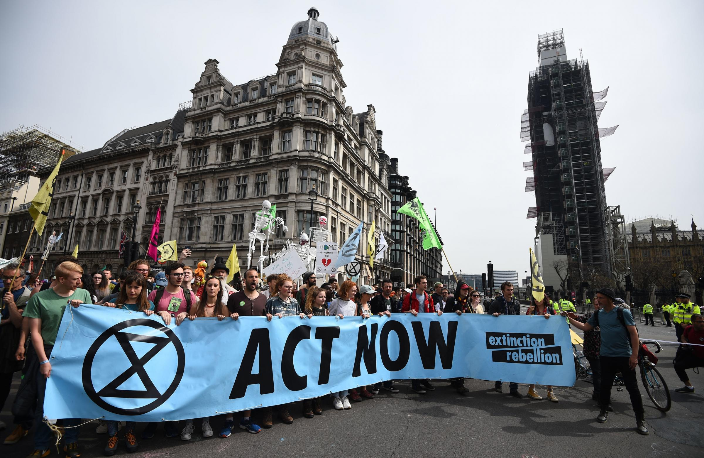 CAMPAIGN: Extinction Rebellion protesters in London