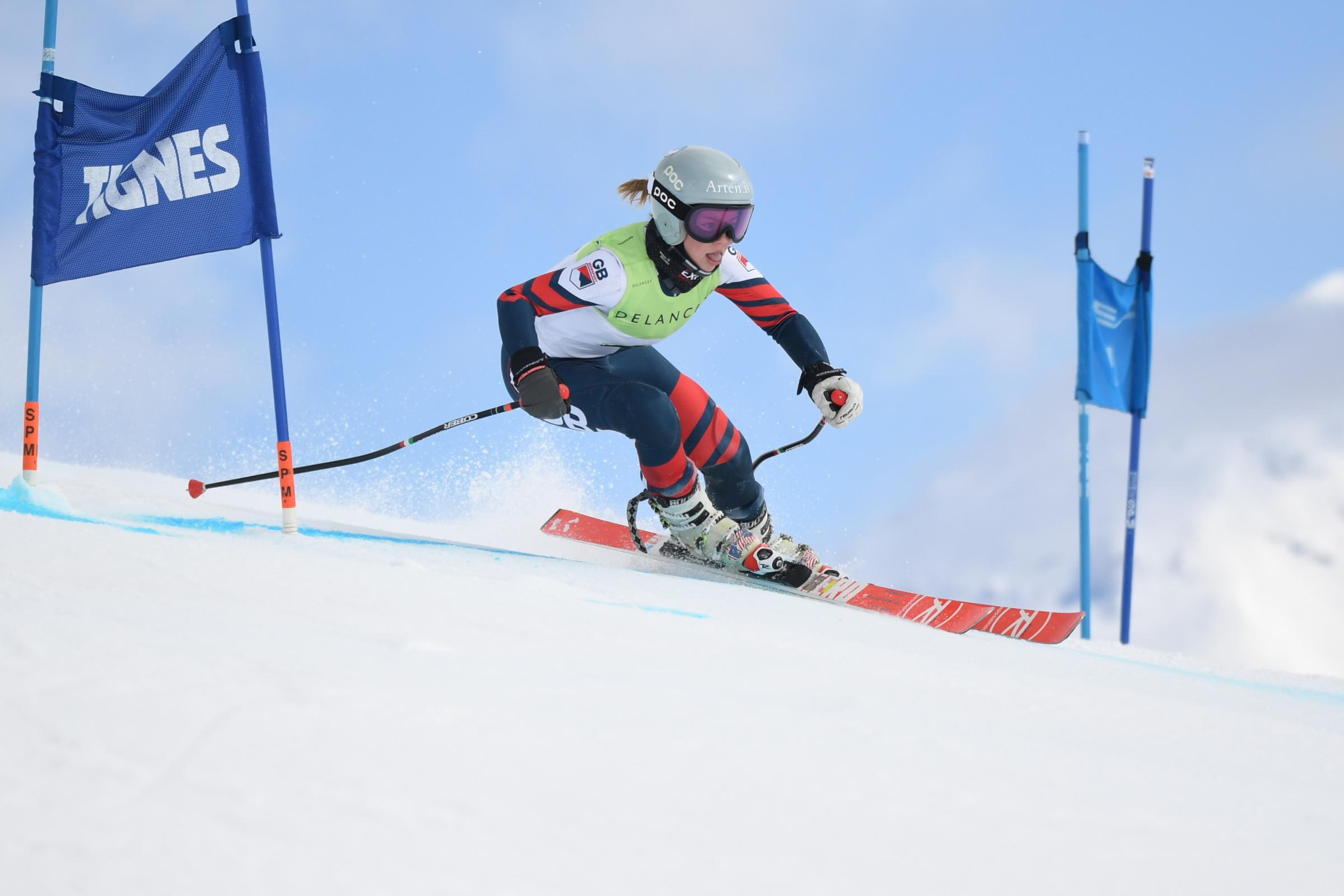 Bournemouth talent Sophie Stocker in action at the 2019 GB Alpine Championship