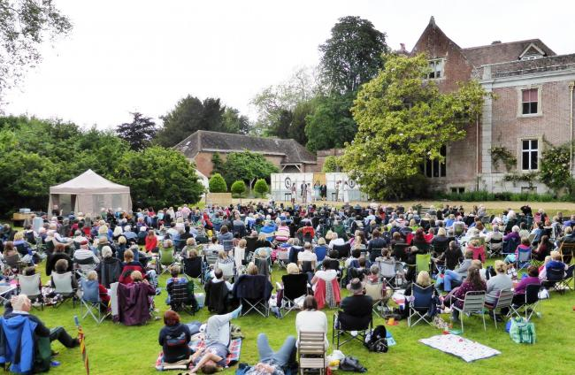 A previous open air production of Pride & Prejudice at Dean Court