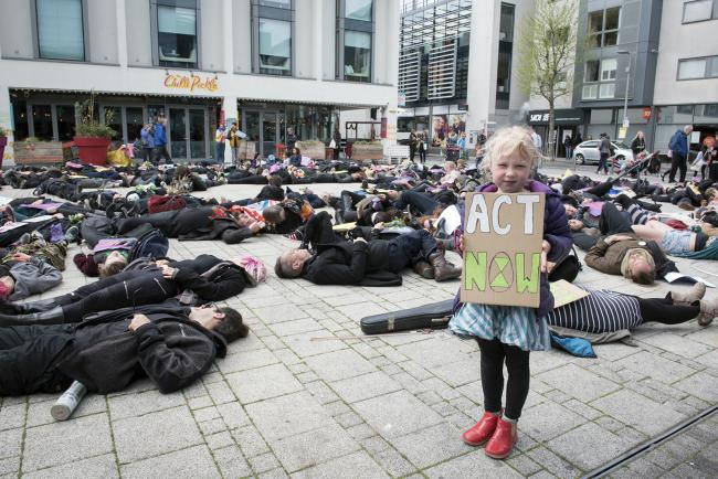 PROTEST: Extinction Rebellion activists take to the streets of Brighton