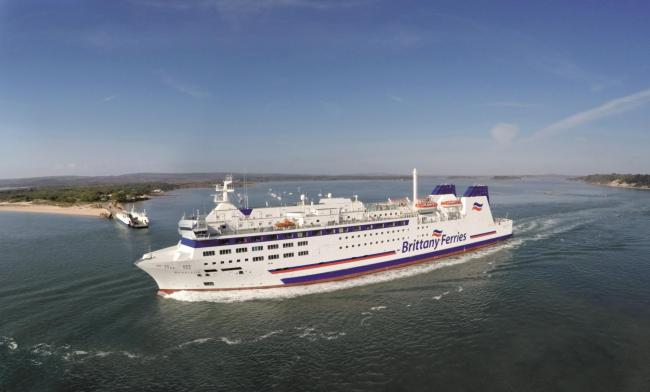 Brittany Ferries Barfleur in Poole Harbour.