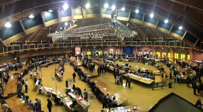 The count for the 2019 local elections at the BIC. Picture by Richard Crease