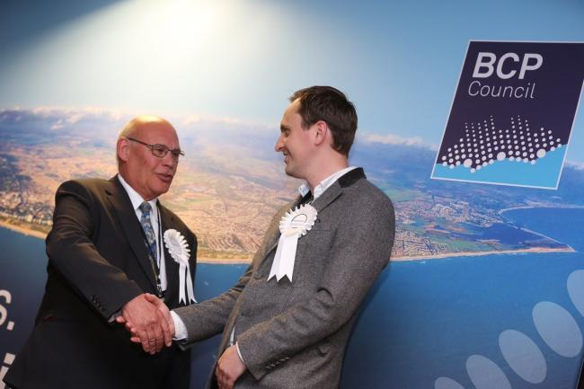 David Flagg and Simon McCormack win for Christchurch Independents in the Burton and Grange ward. Picture: Richard Crease