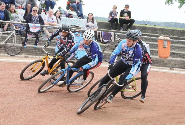 BATTLE: Poole hit the front in their clash with Coventry (Picture: Graham Robins)