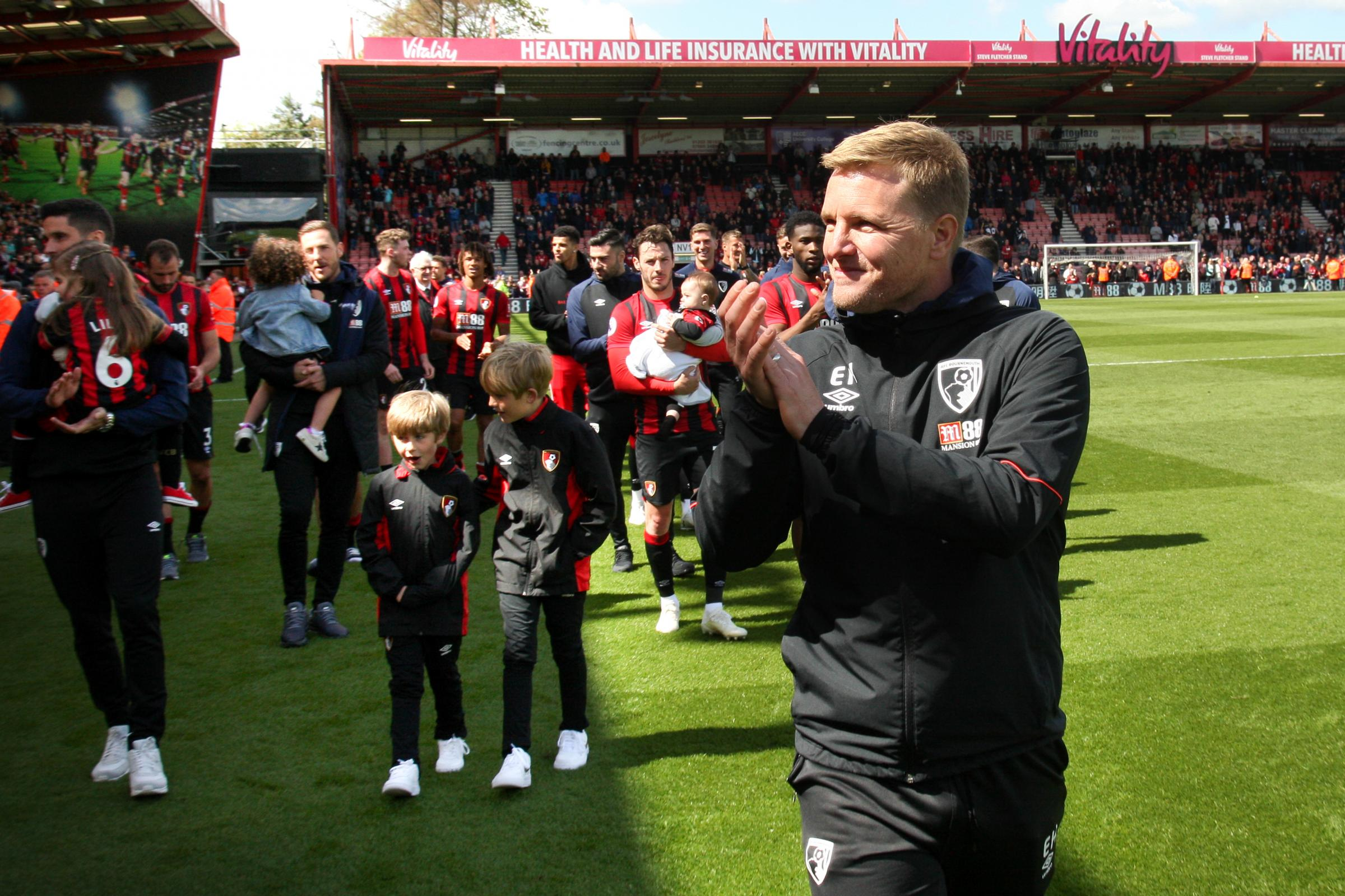 TIME TO REFLECT: Boss Eddie Howe guided Cherries to 14th in their fourth Premier League season