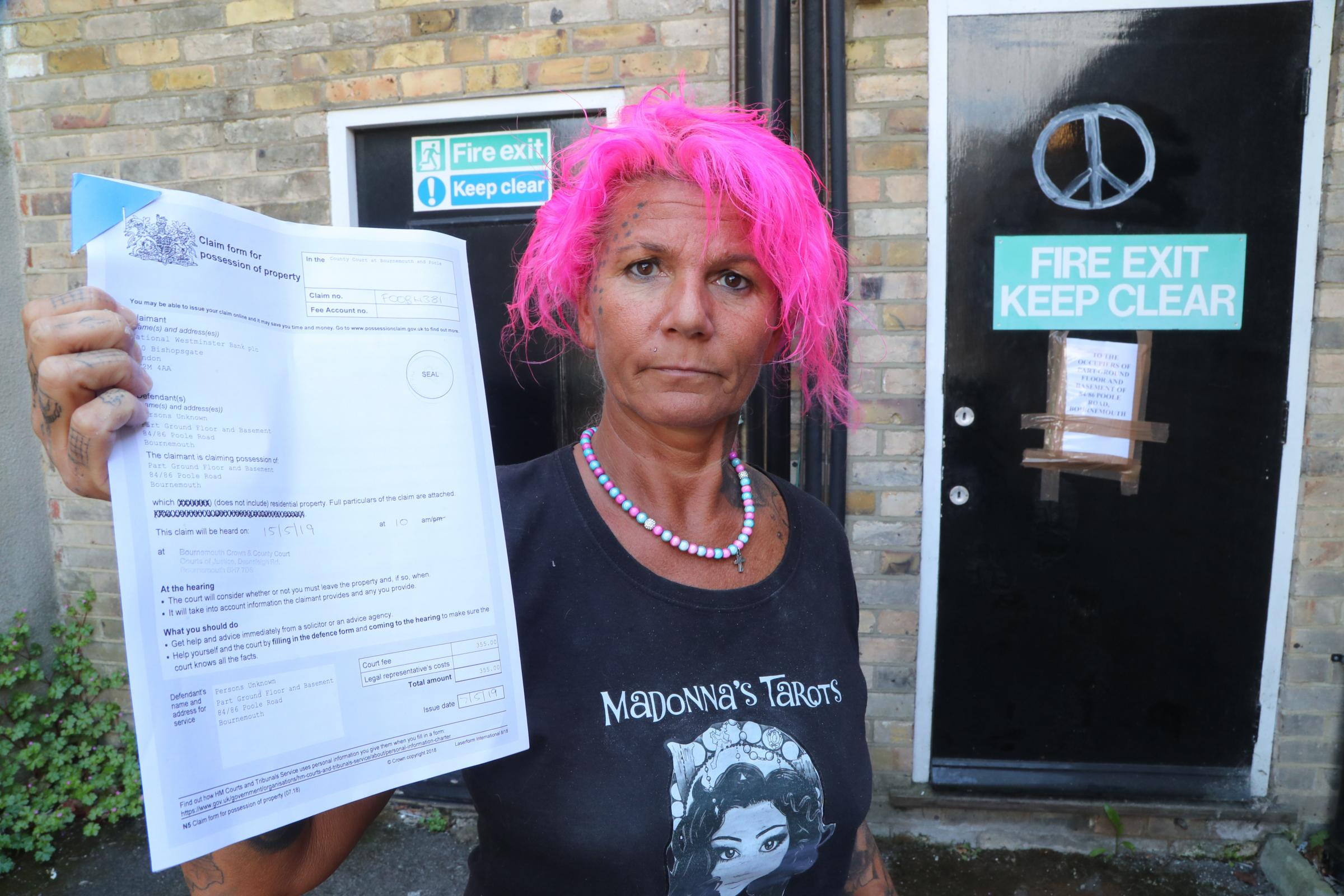 Squatters had moved into the former NatWest in Westbourne