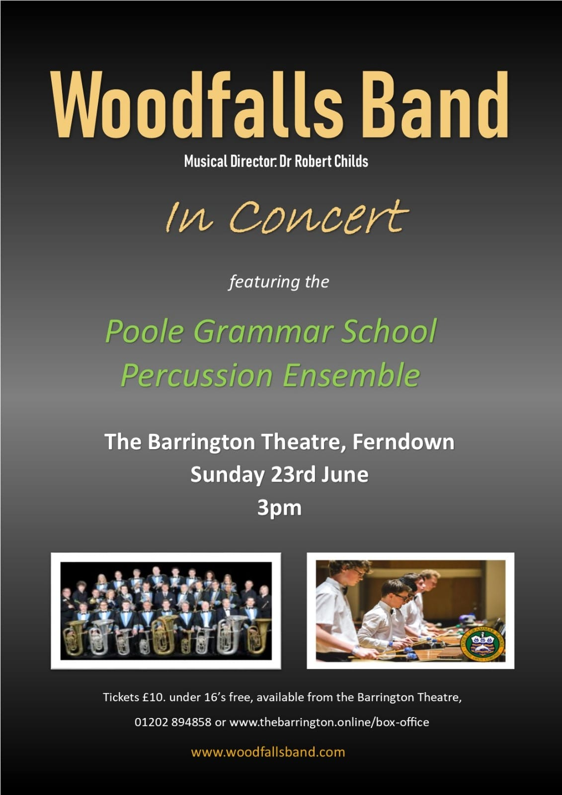 Woodfalls Band with Poole Grammar School Percussion Ensemble