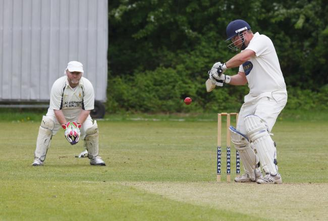 UNBEATEN: Pete Russell made 57 not out for Broadstone (Picture: Steve Harris)