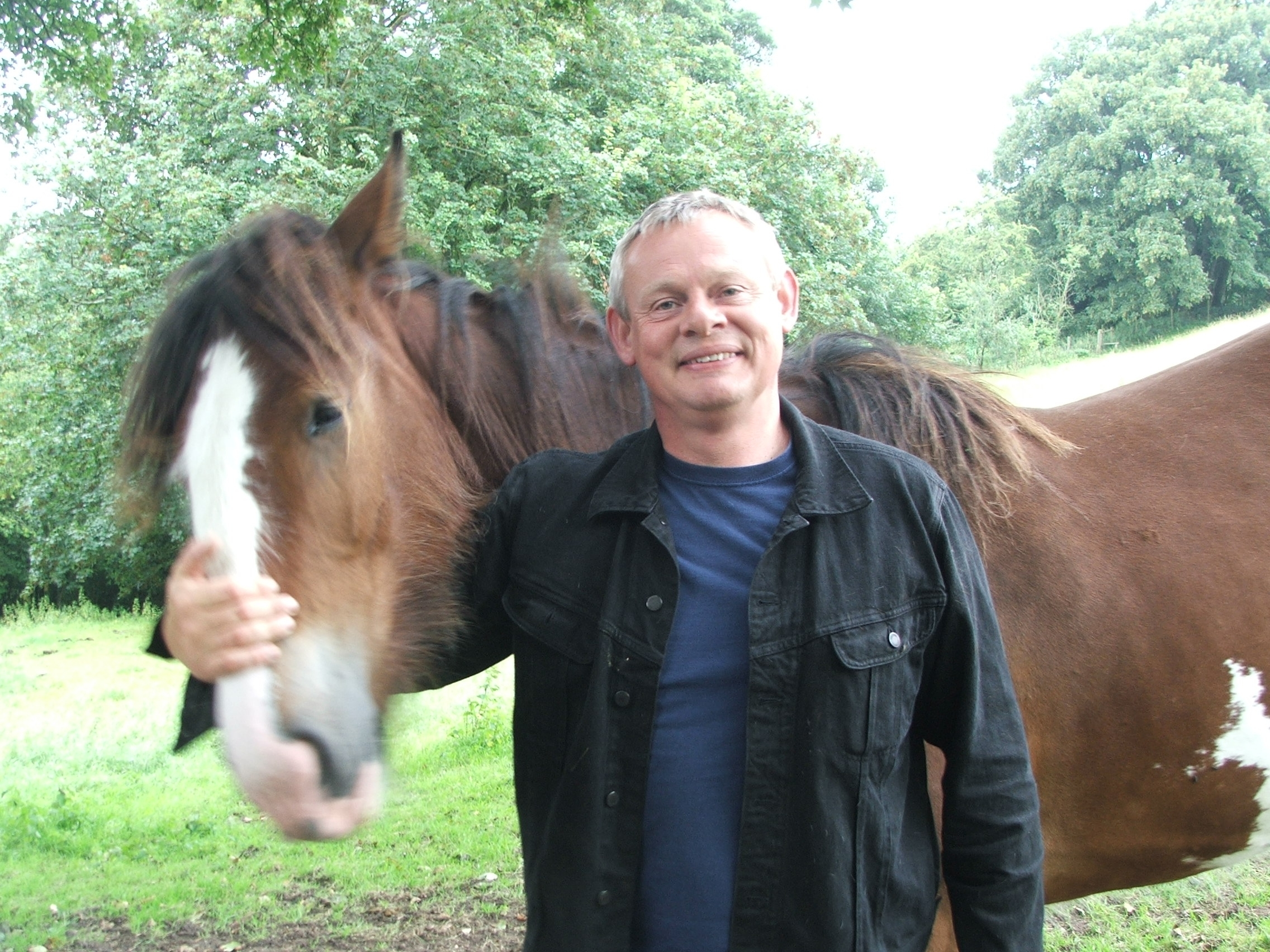 Martin Clunes at his Beamisnter home