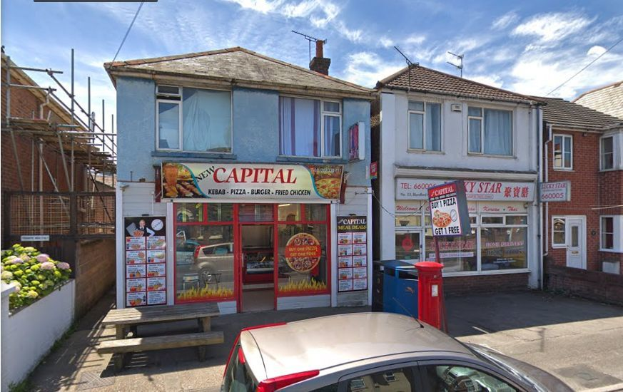 The property is above a kebab shop in Blandford Road, Poole. Image from Google