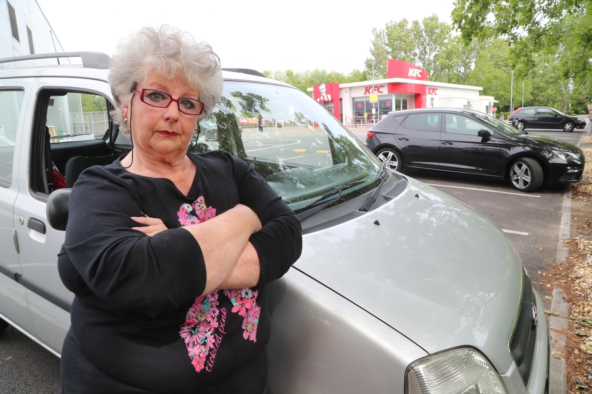 "Grandma says one hour KFC restaurant parking is ""ridiculous"""