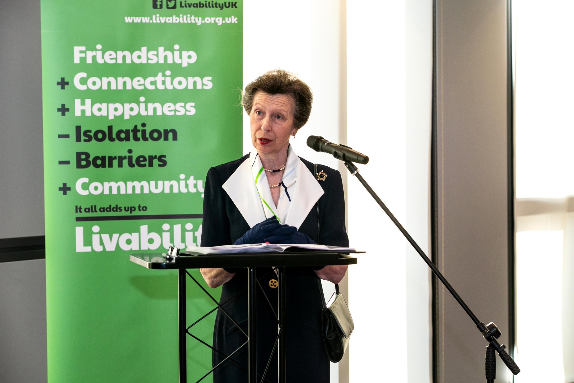 HRH The Princess Royal visited the Livability exhibition