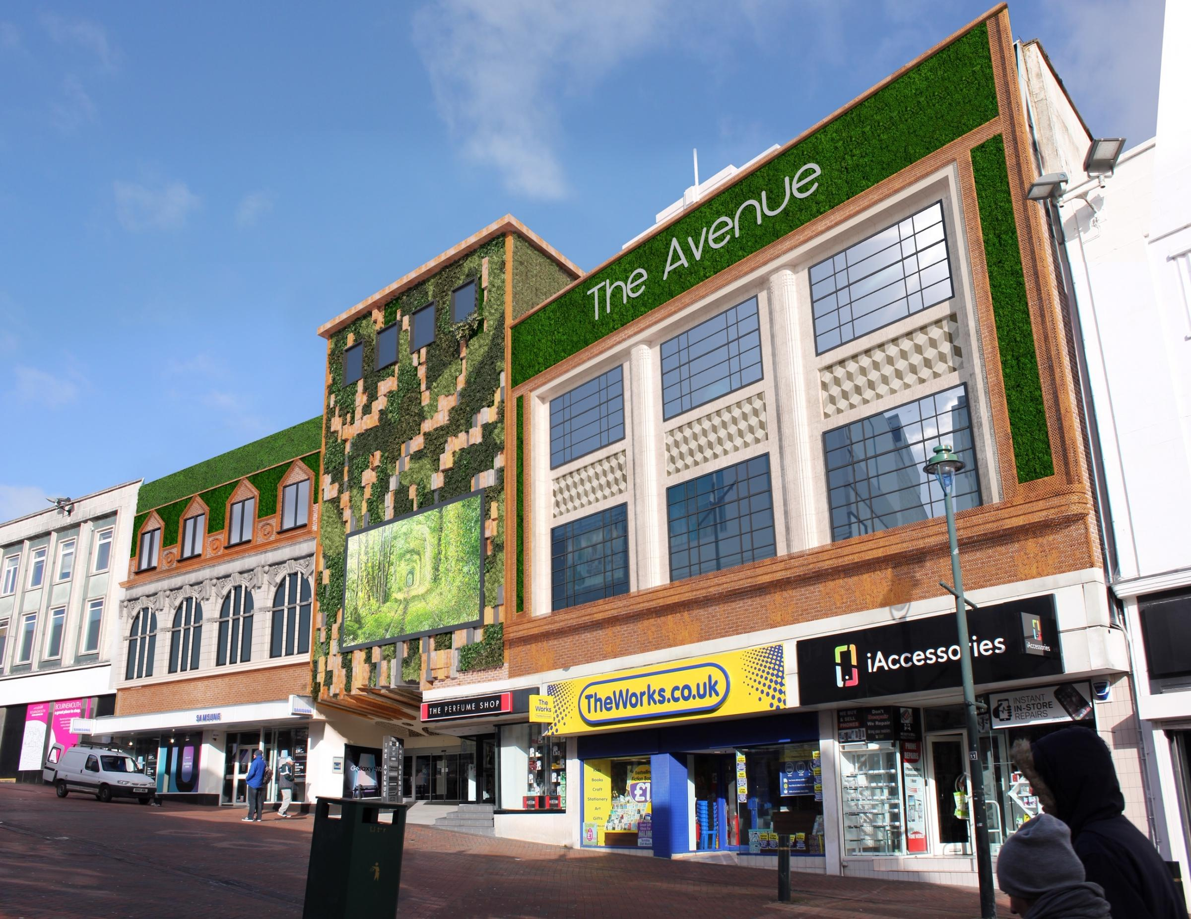 The Avenue shopping centre in Bournemouth is being developed