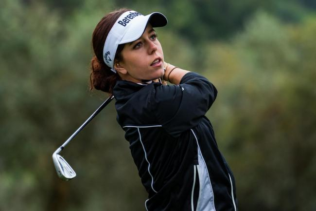 BACK IN ACTION: Georgia Hall tees off at the Pure Silk Championship tomorrow (Picture: Tristan Jones/LET)