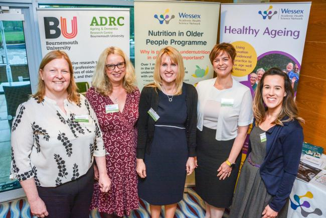 : Professor Jane Murphy (centre) with representatives from Wessex AHSN and Southern Health
