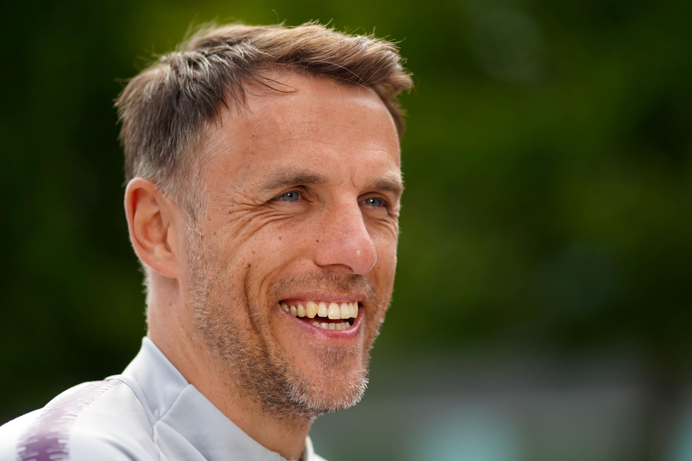 England Women manager Phil Neville is pleased with how this week has gone with the Marines