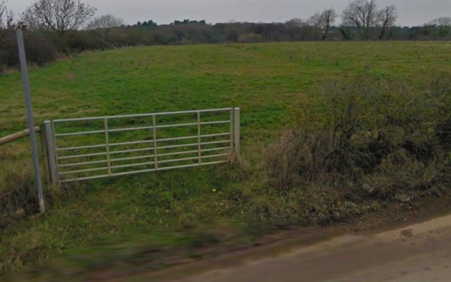The proposed site for the extension to the Pennington Recycling Facility (Picture: Google Maps/Street View)