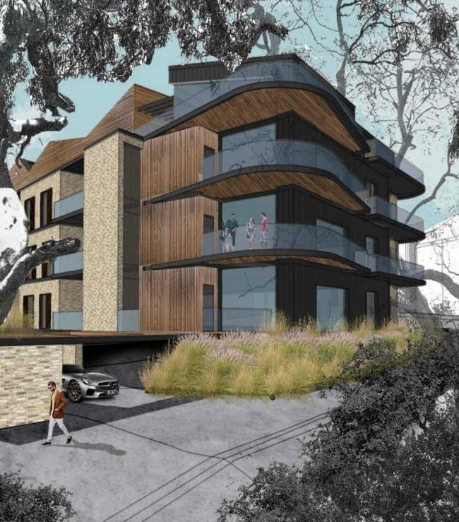 SCHEME: A CGI of the proposed block of flats at 9-11 Chaddesley Wood Road in Poole. Image: Brightspace Architects