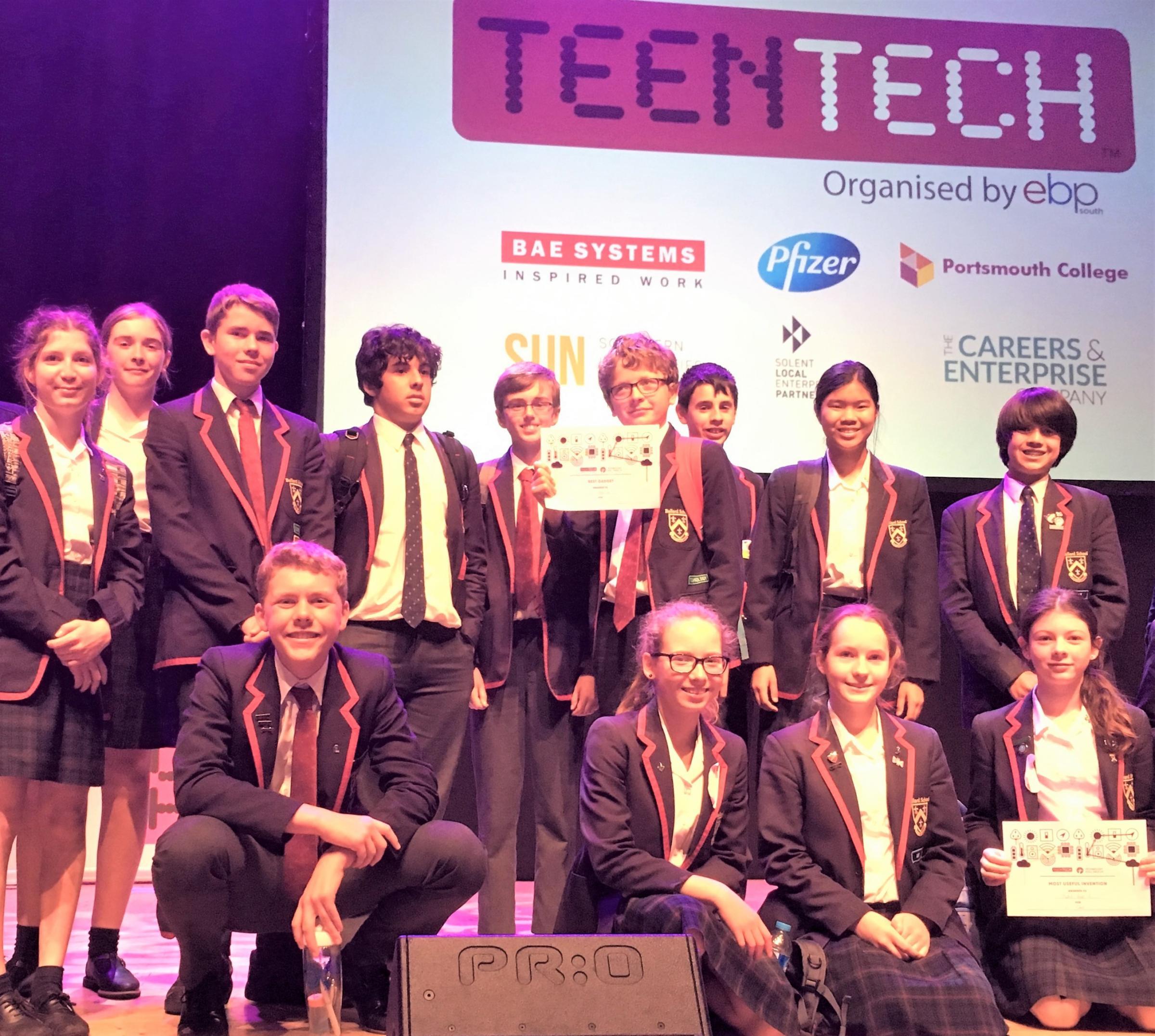 Ballard School students win awards in TeenTech Solent challenge